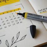 Bullet journal for planning